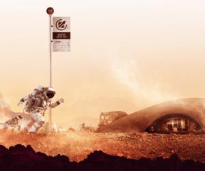"""Bild från utställningen """"moving to mars"""" Tekniska Museet"""