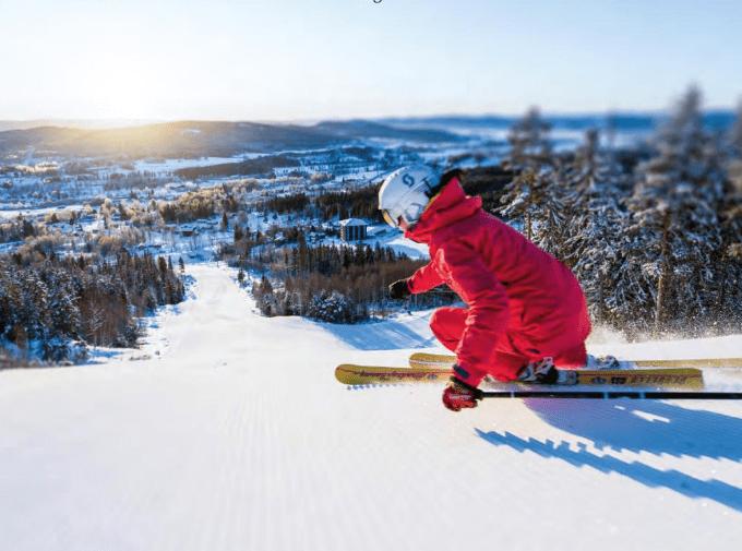 Bild på skidåkare i Järvsö